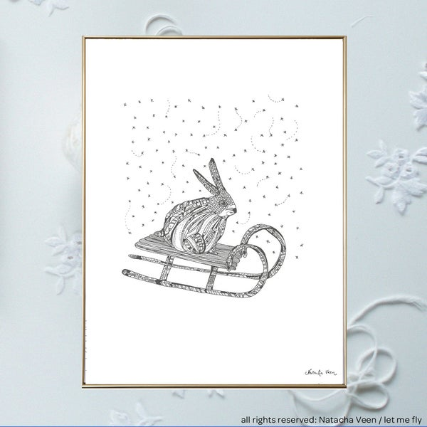 Image of Snow rabbit_A3
