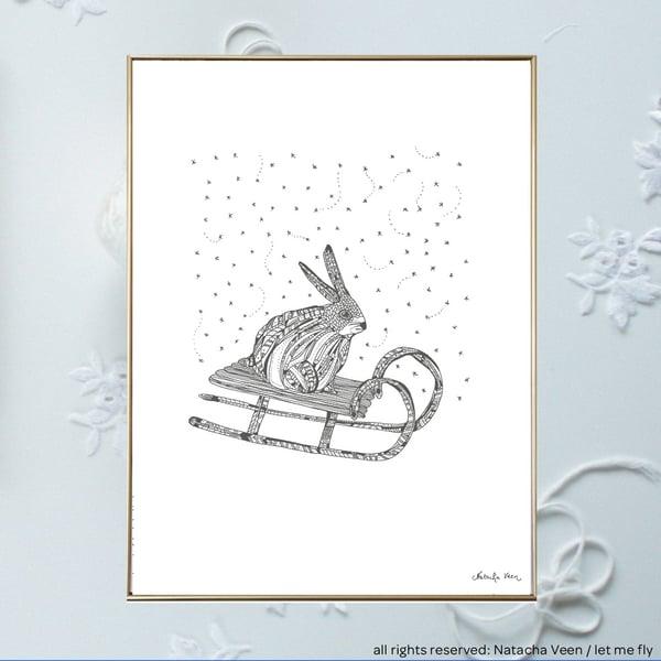 Image of Snow rabbit_A3