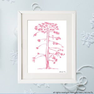 Image of Pink tree of life_A4