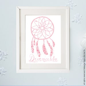 Image of Pink *Dreamcatcher*_A4