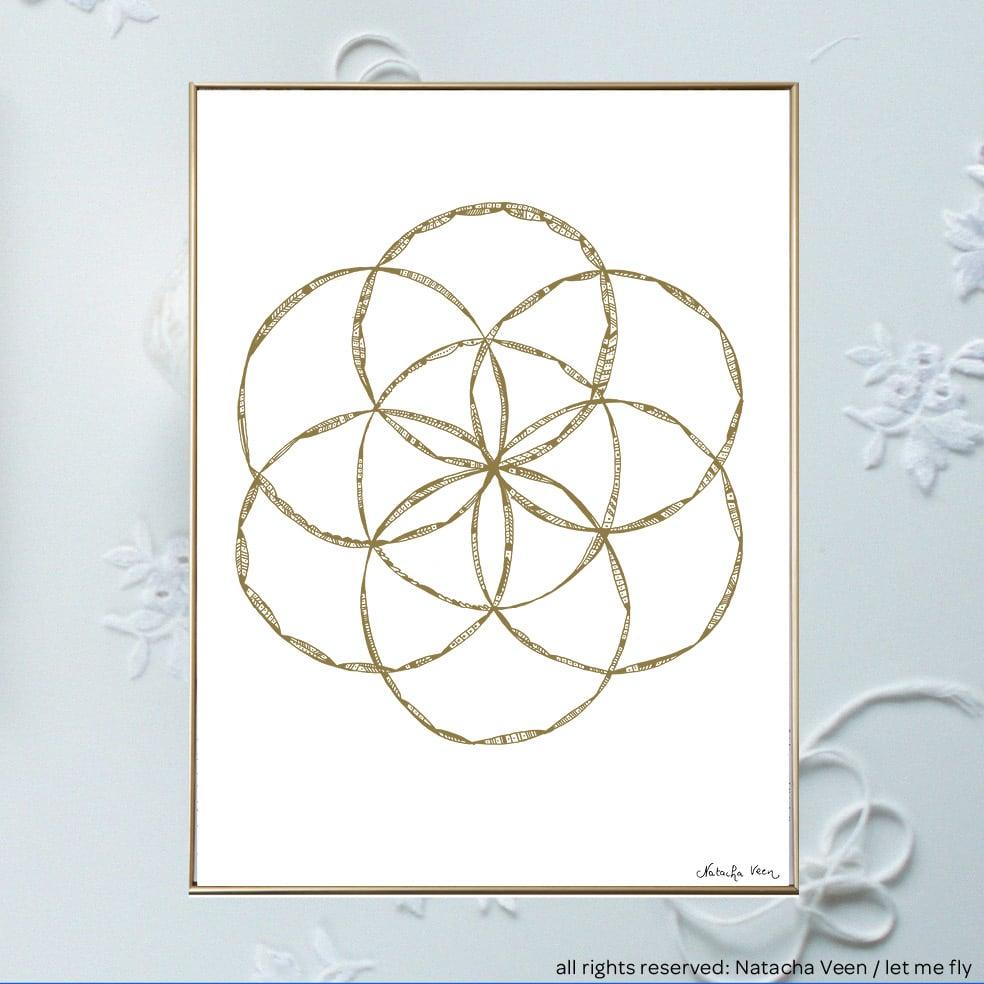 Image of Gold *Graine de vie*_18x24 cm