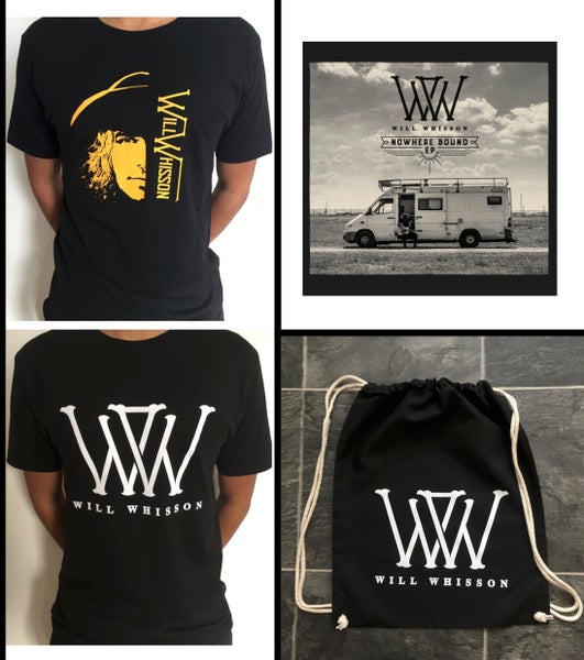 Image of Drawstring Bag BUNDLE: Nowhere Bound (Deluxe) EP + Drawstring Bag + Any T-shirt