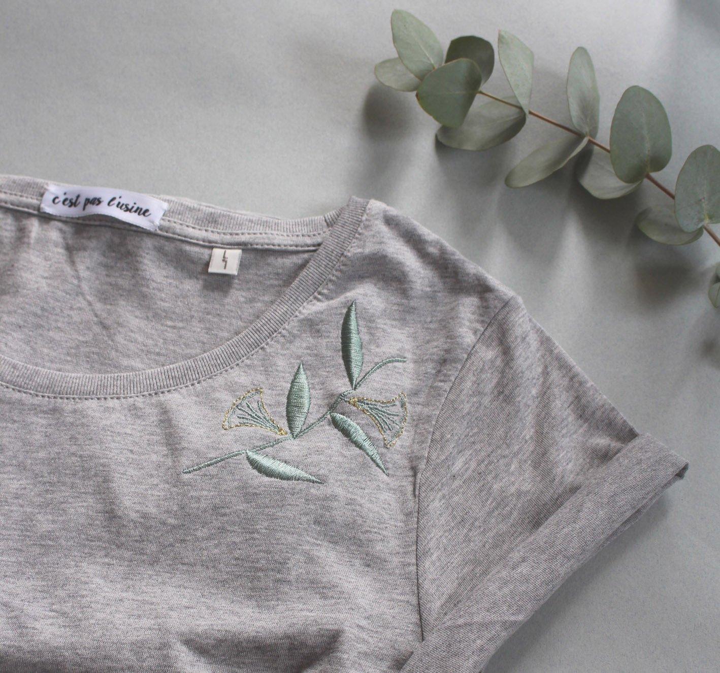 Image of T-shirt FEMME feuilles de papyrus
