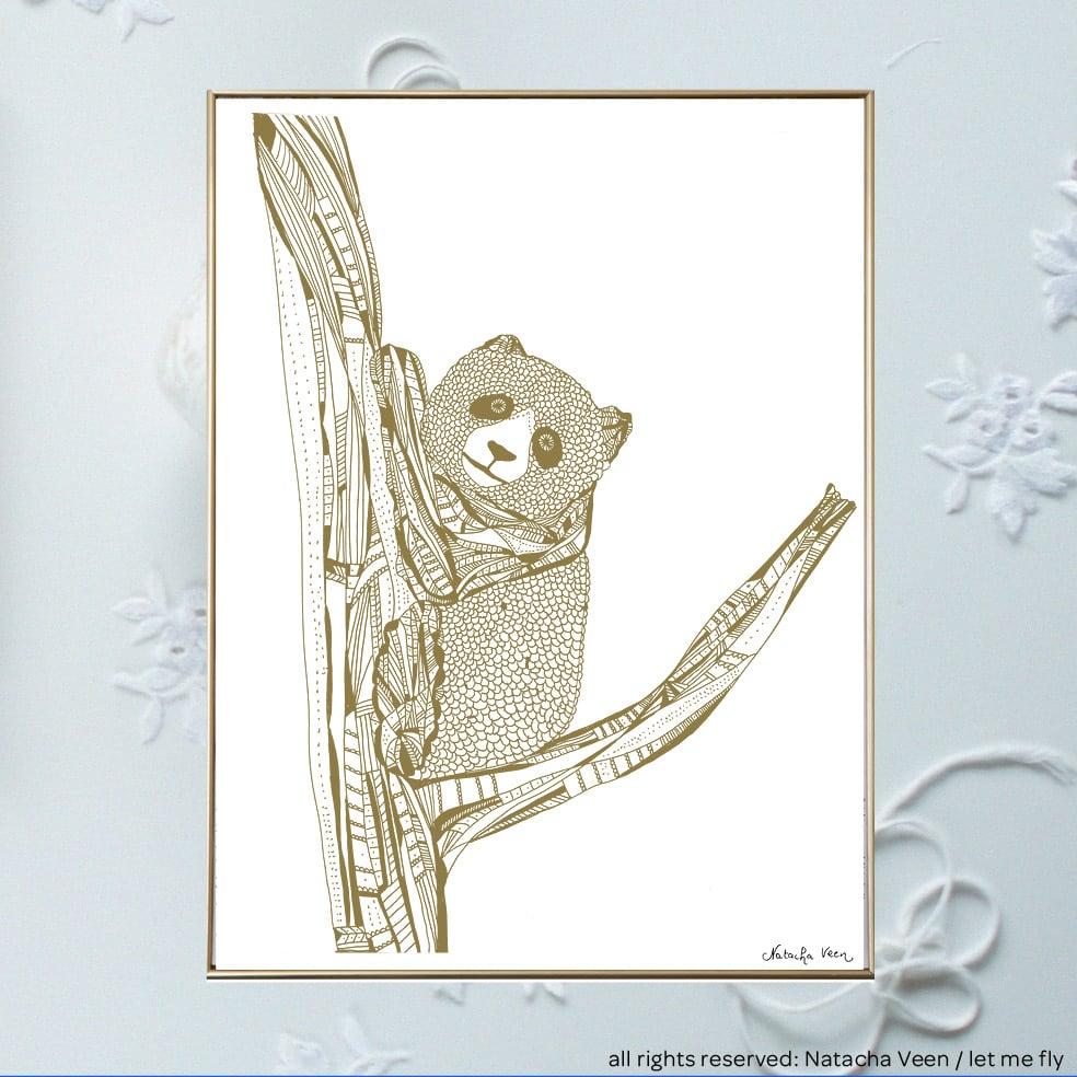 Image of Gold *koala*_18x24cm