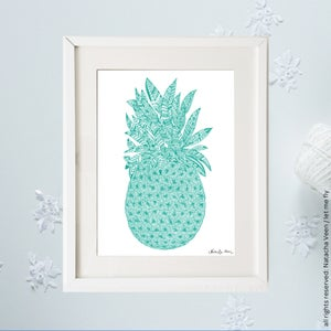 Image of Green *pineapple*_A4
