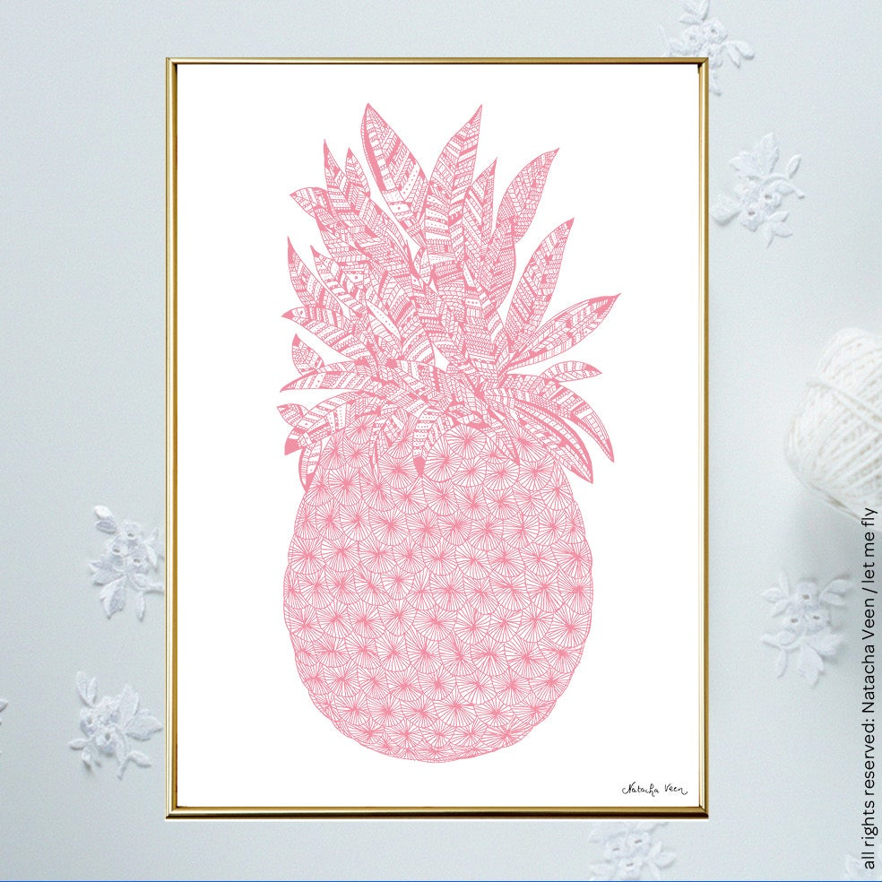 Image of Pink *Pineapple*_A4