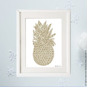 Image of Gold *pineapple*_A4
