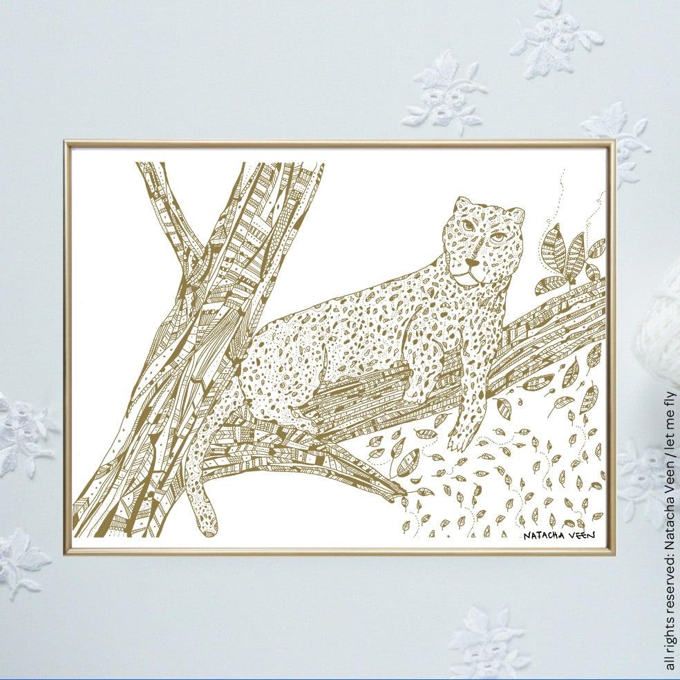 Image of Gold *Tiger*_18x24 cm