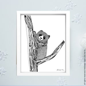 Image of Black*Koala*_18x24cm