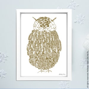Image of Gold *Owl*_A3