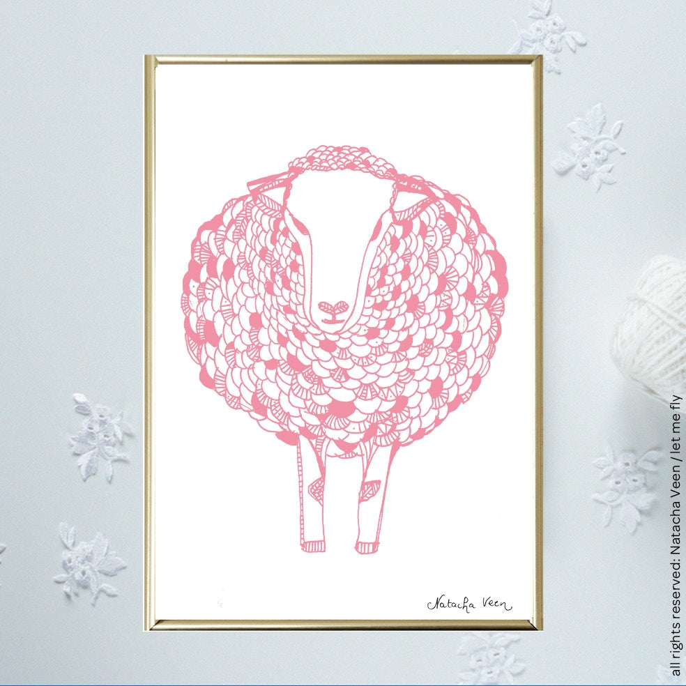 Image of Pink *Sheep*_A6