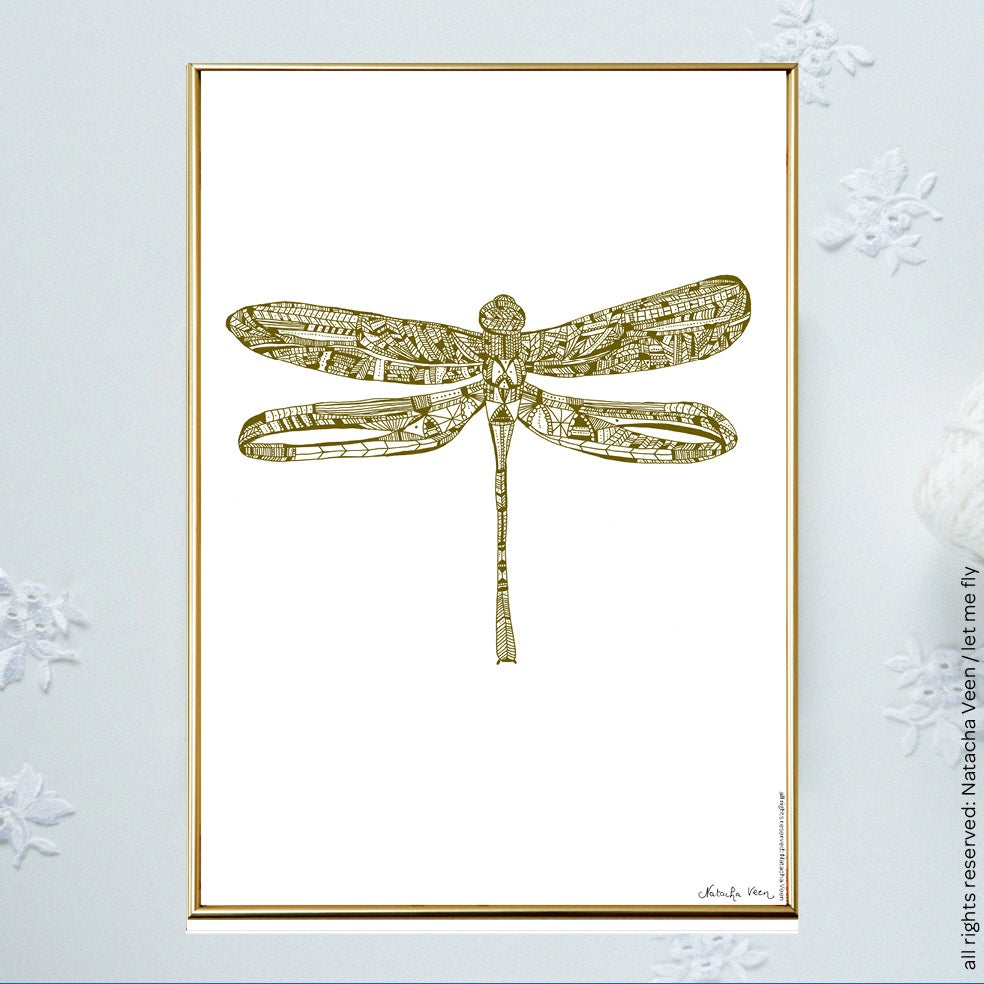 Image of Gold *Dragonfly*_A4