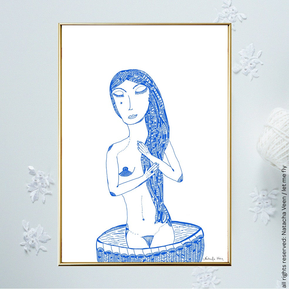 Image of Blue *Woman & Bath*_A4