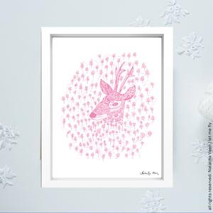 Image of Pink *Doe*_18x24cm