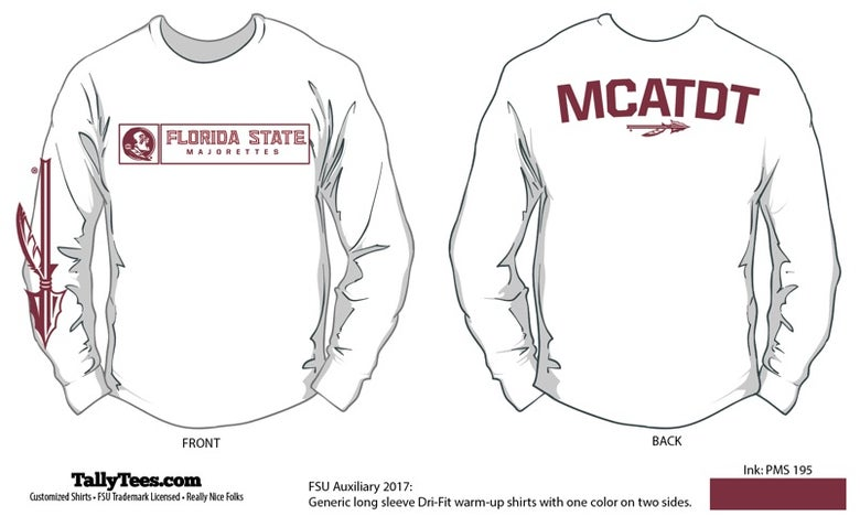 Image of FSU Majorettes 2018 White Long Sleeve Tee