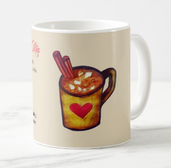 Image of Hot Chocolate Coffee Mug with Drink Mix