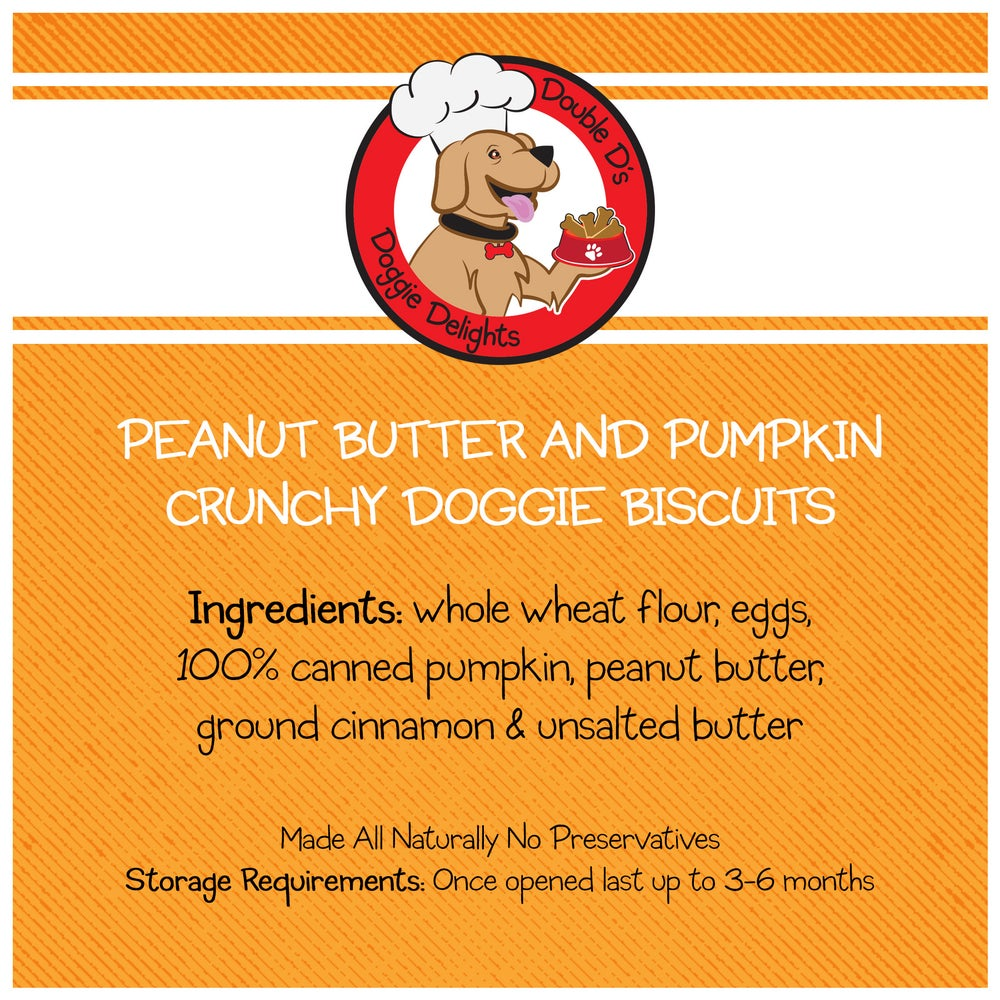 Image of Crunchy Peanut Butter & Pumpkin Doggie Biscuits