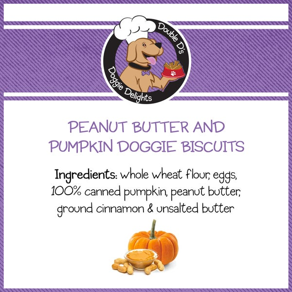 Image of Peanut Butter and Pumpkin Doggie Biscuits