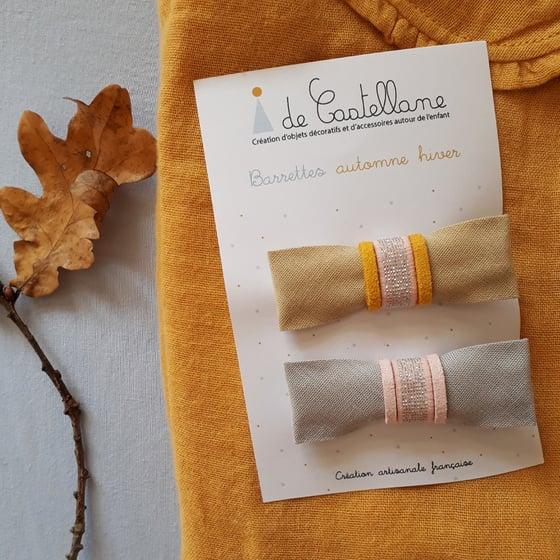 Image of Duo barrettes : pailleté argent
