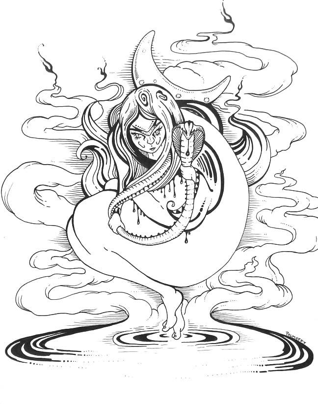 "Image of ""Snake Charmer"" Original Drawing"