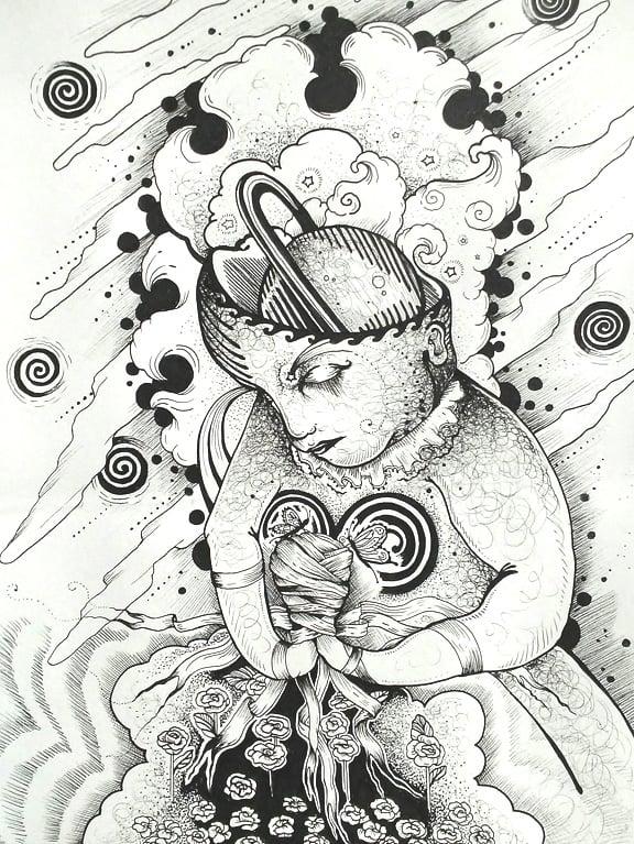 """Image of """"Saturn Returns"""" Original Drawing"""