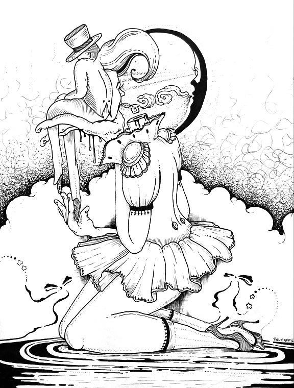 "Image of ""Hypnotique"" Original Drawing"