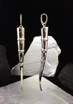 Image of Silver Tendril Earrings