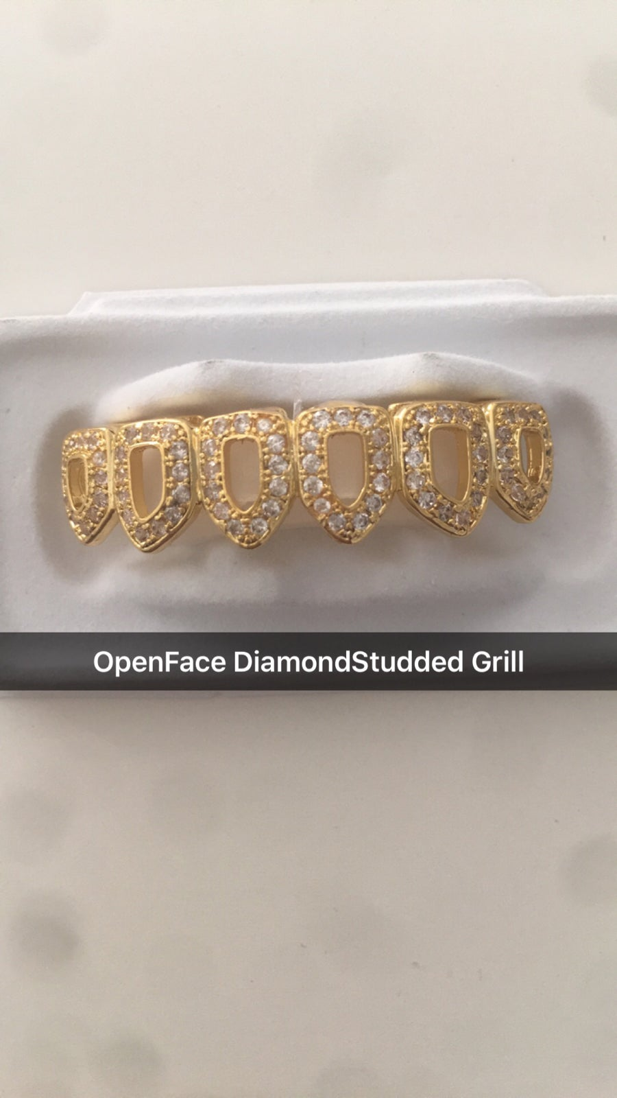 Image of OPENFACE DIAMOND STUDDED GRILL