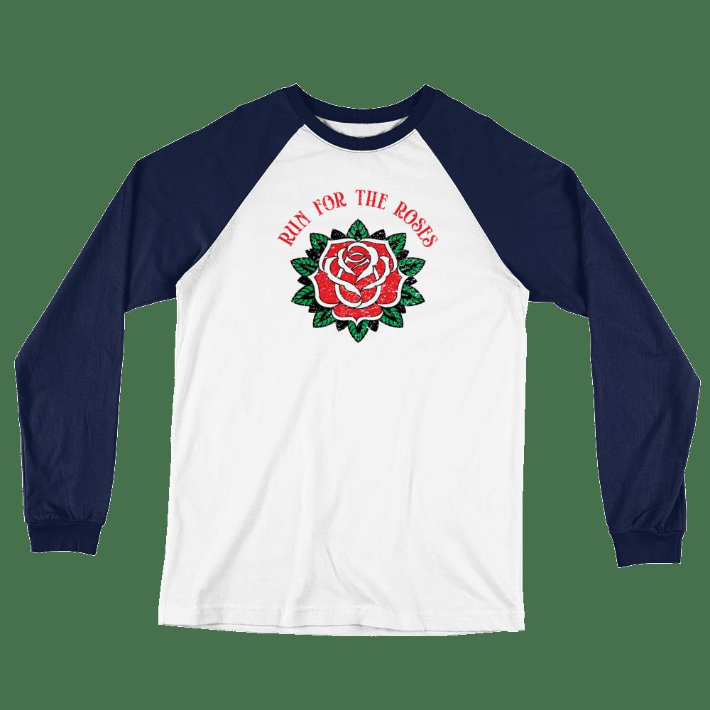 Run for the Roses - Long Sleeve Baseball T-Shirt