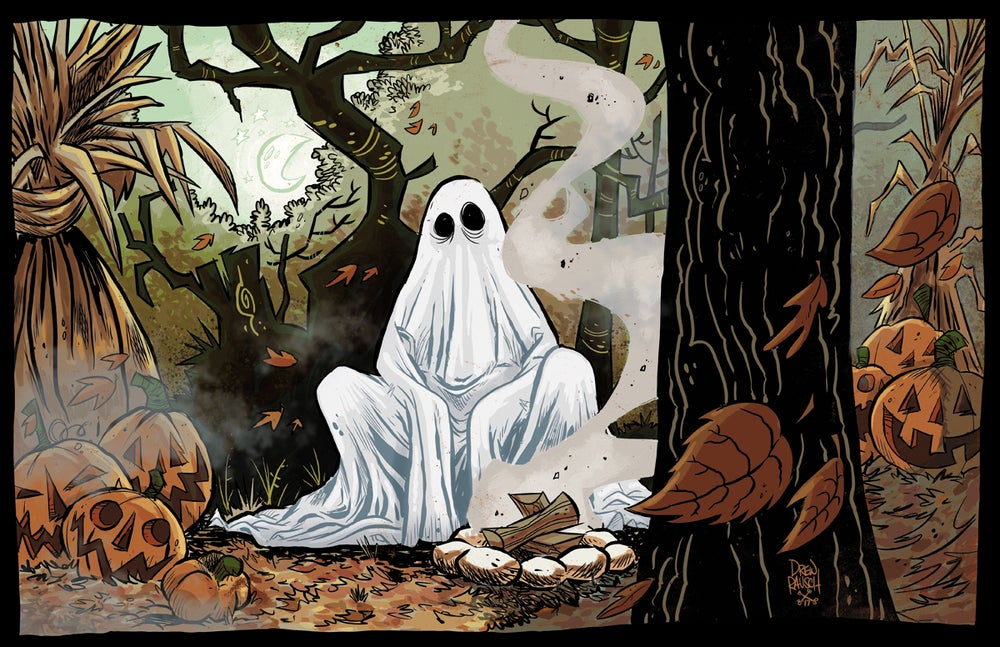 Image of Campfire Ghost Print