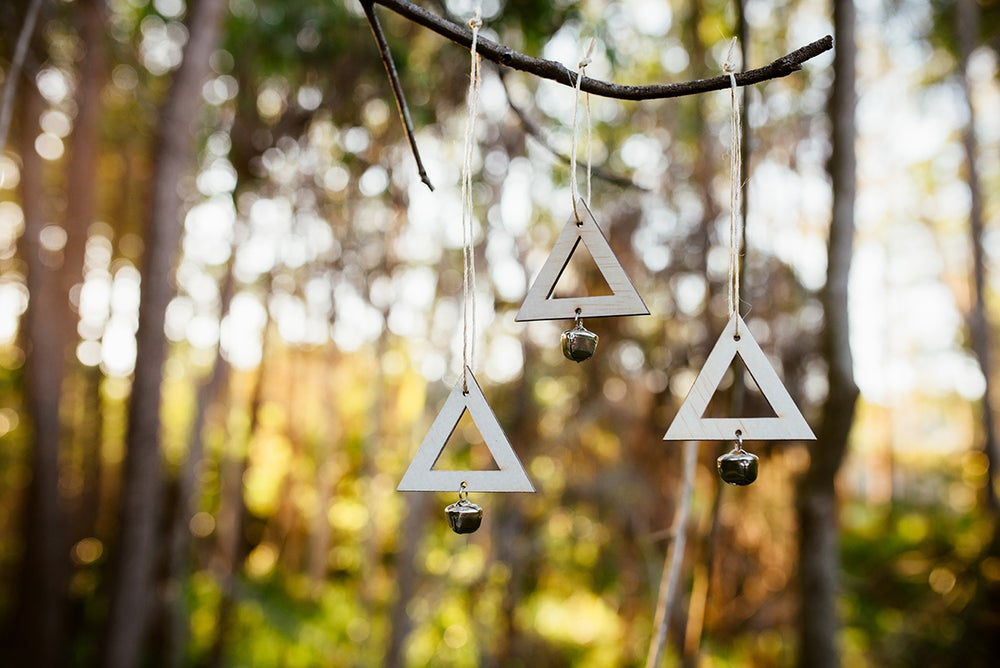 Image of Set of 3 TRIANGLES | RAW WOOD