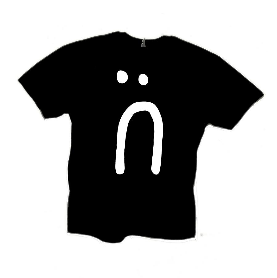 Image of sad face shirt