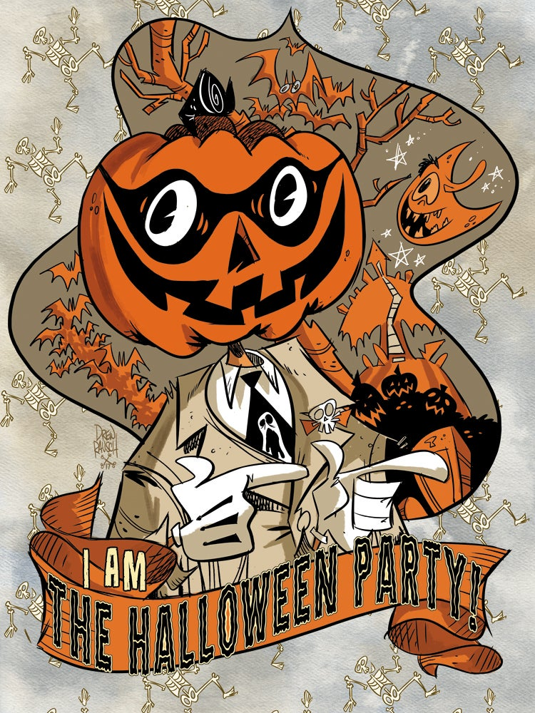 Image of I AM the Halloween Party print