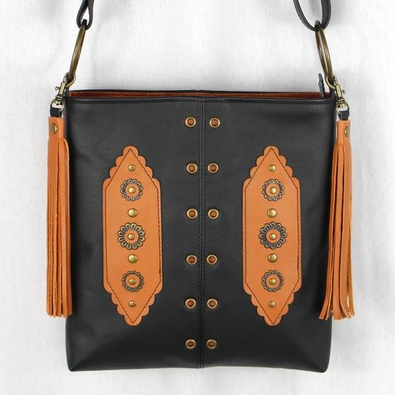 Image of Kanza Black Leather Hip Bag