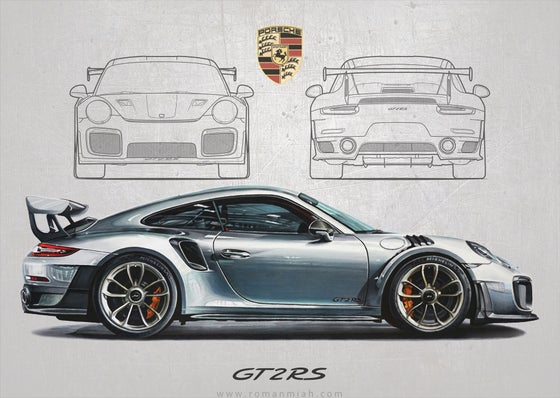Image of Porsche 911 GT2 RS Poster Print