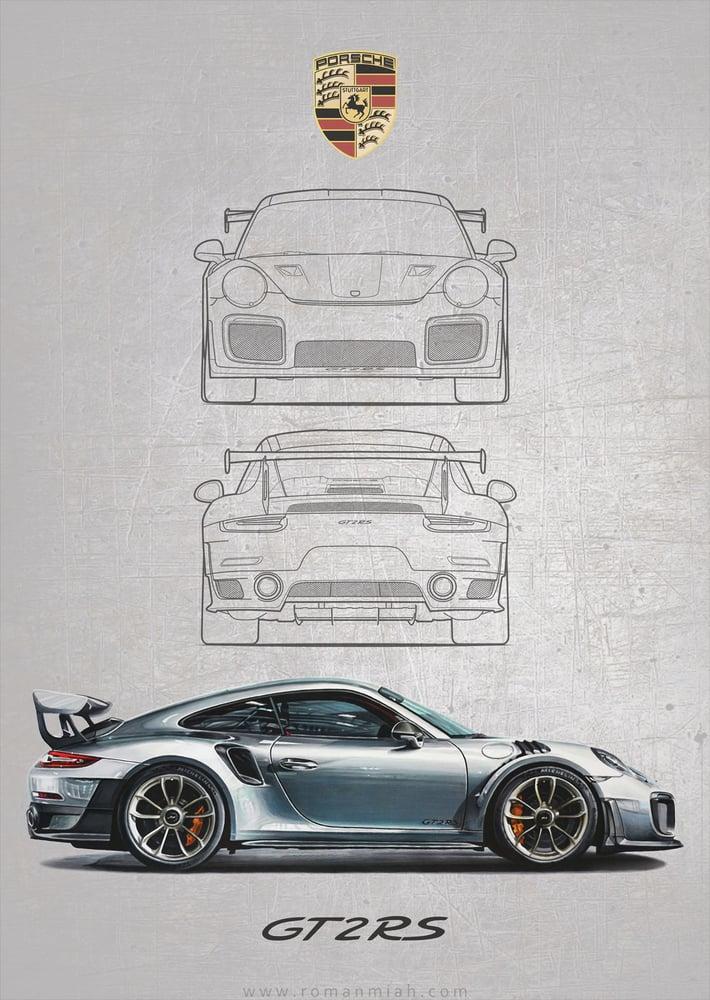 Porsche Gt2 Rs >> Porsche 911 GT2 RS Poster Print / Roman Miah