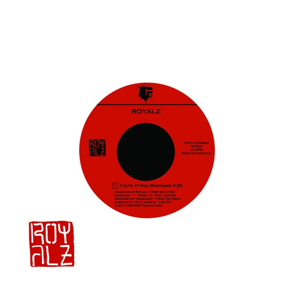 "Image of Royalz - Facts ft. Roc Marciano 7"" Vinyl"