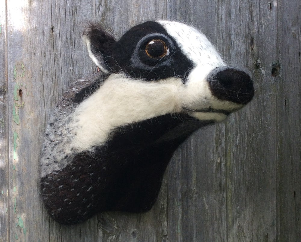 Image of Badger. (Faux Taxidermy Collection.)
