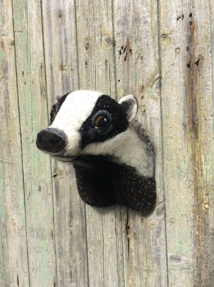 Image of Badger. Faux Taxidermy Collection.
