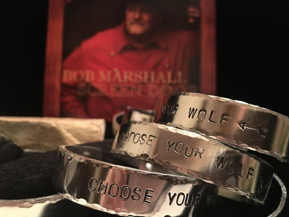 "Image of ""Choose Your Wolf"" Handcrafted bracelet"