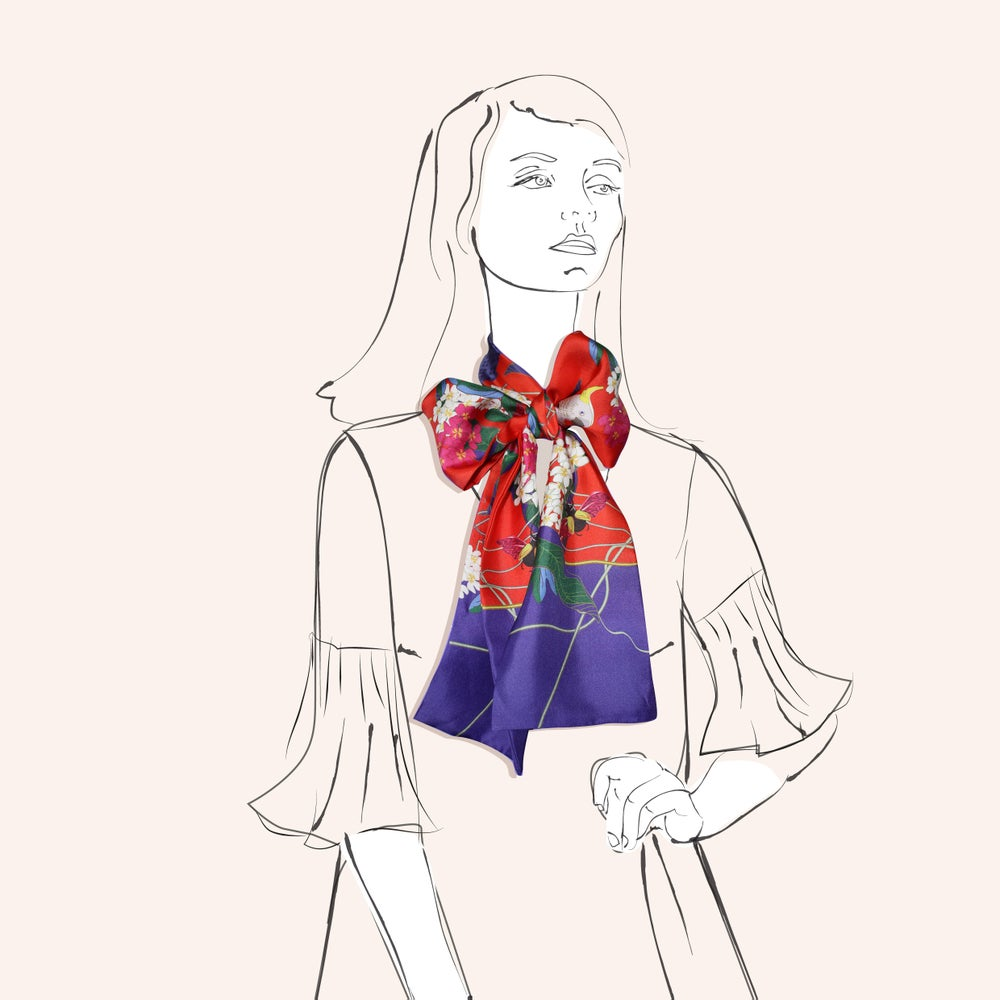 Image of Cockatoo Scarf - a collaboration between Murphy & Daughters and Hokum