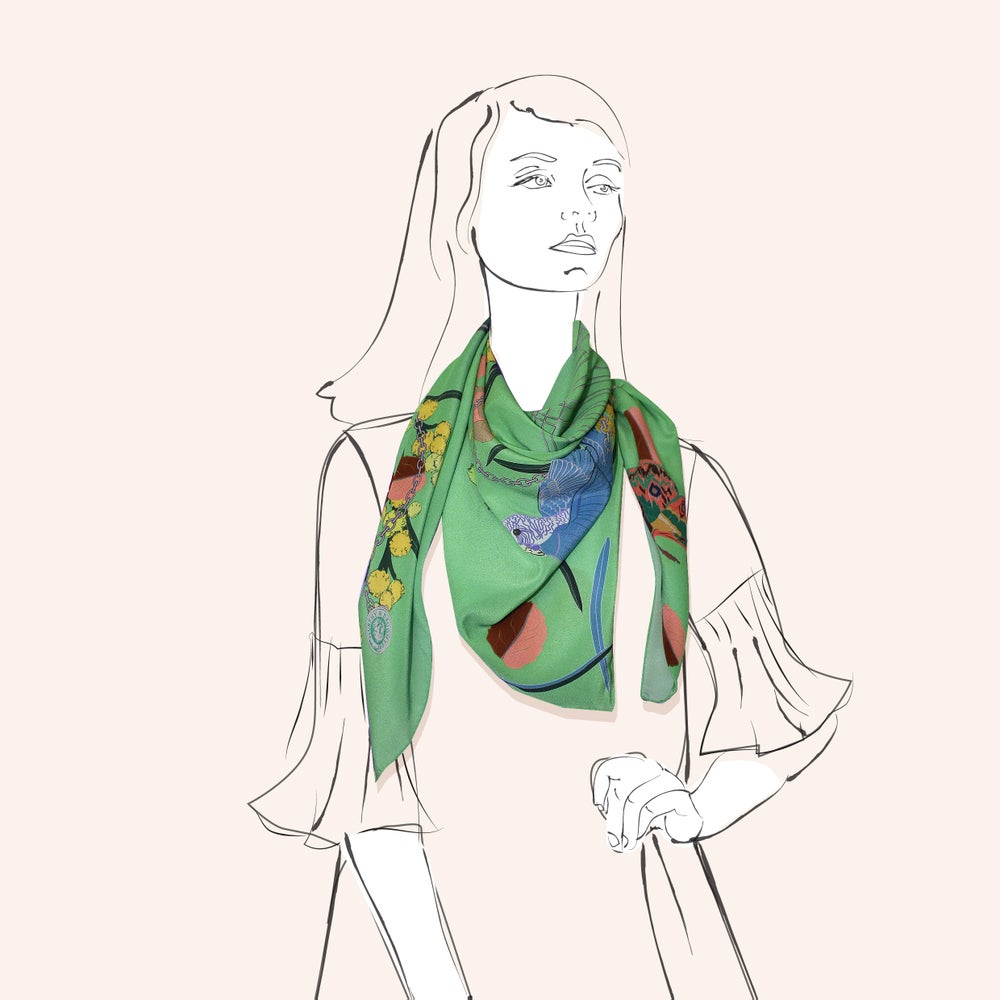 Image of Lola Scarf Lime- a collaboration with Hokum