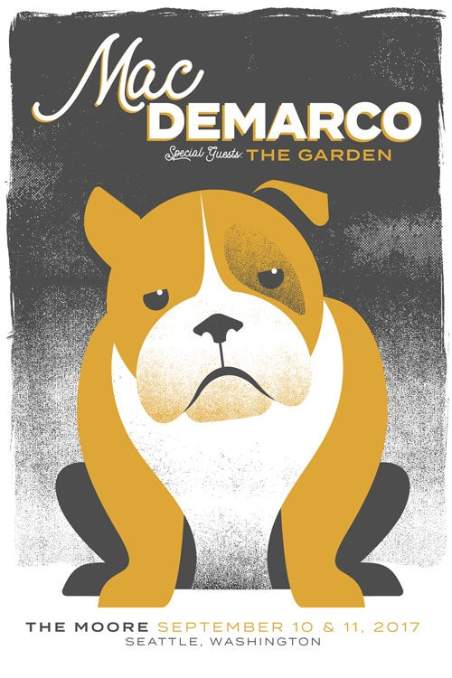 Image of Mac DeMarco Silkscreen Oversized Poster - Seattle