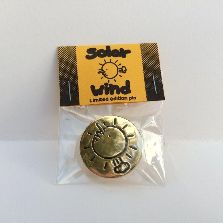 Image of Solar Wind enamel pin