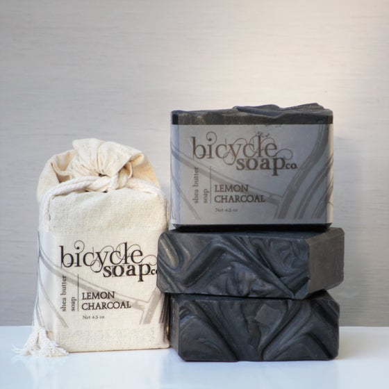 Image of Lemon Charcoal Shea Butter Soap