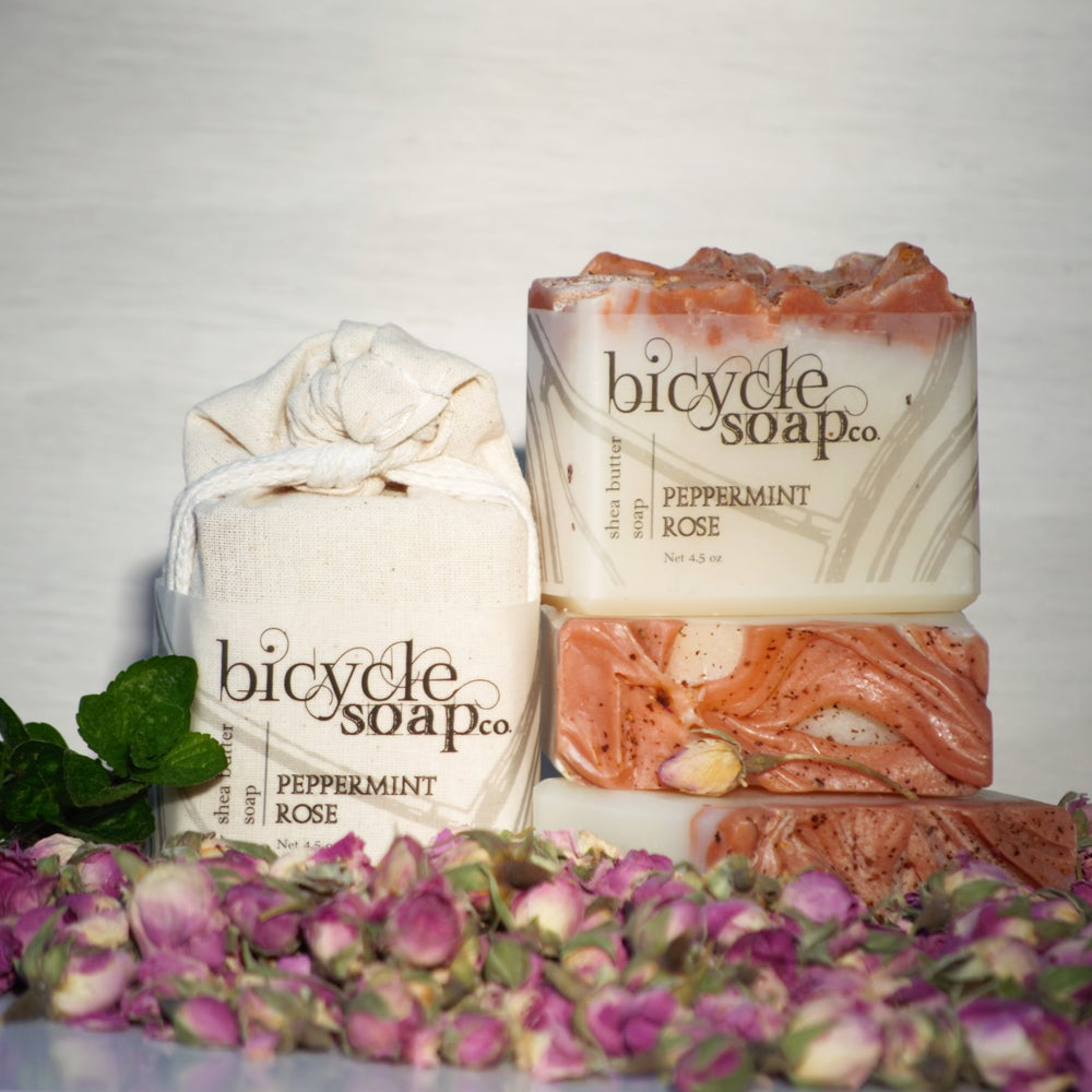 Image of Peppermint Rose Shea Butter Soap