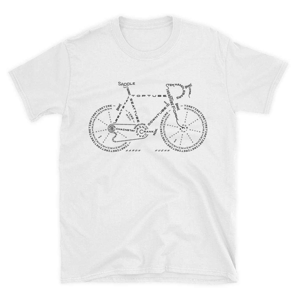 Image of Bicycle Typogram - T-shirt