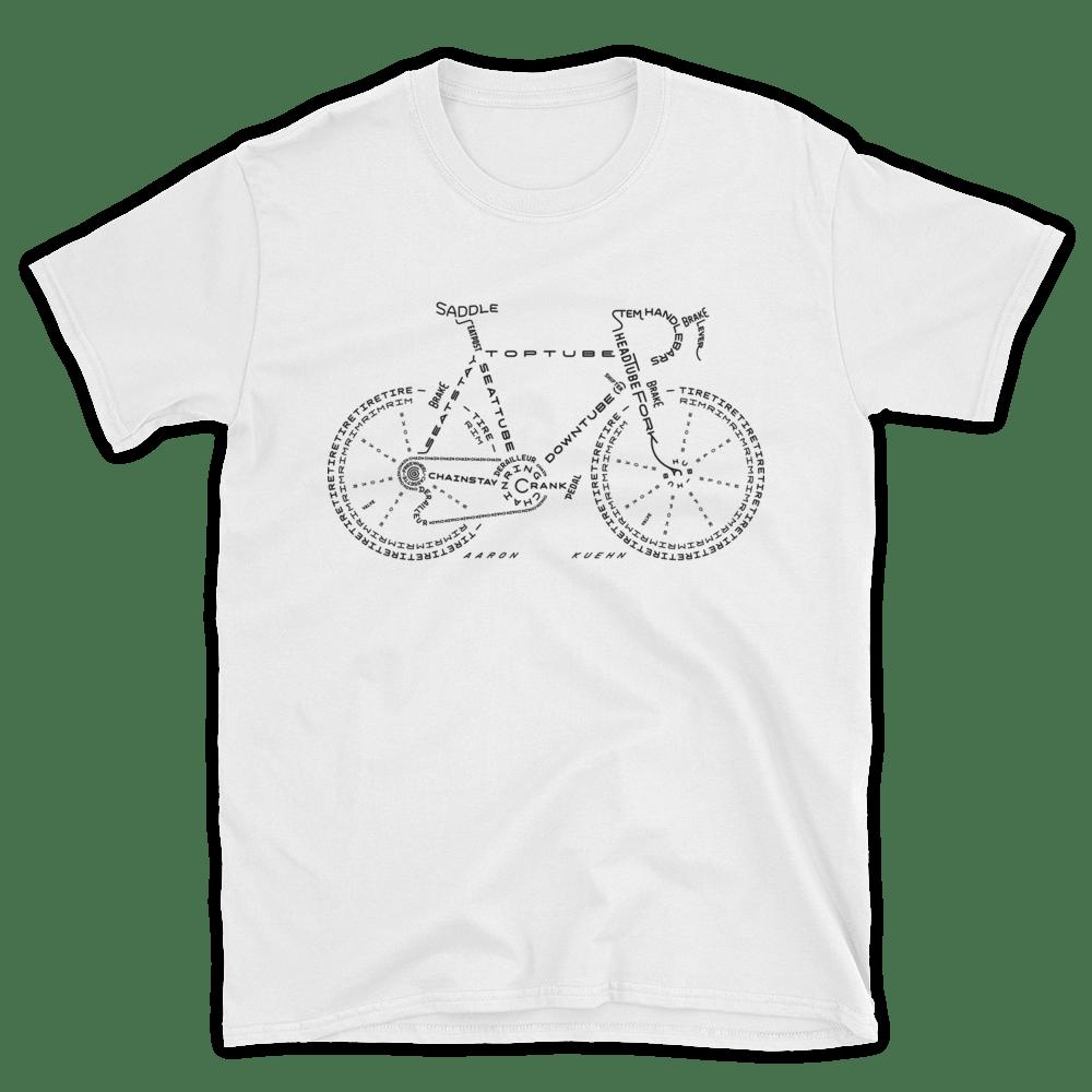 Image of Bicycle Typogram - T-shirt