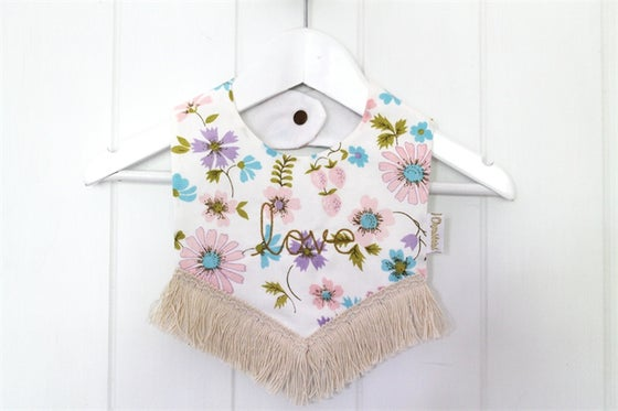 Image of Boho Bib - Love Embroidered