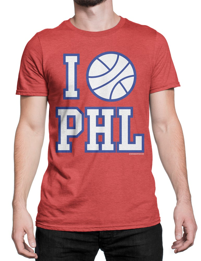 Image of I Love Philly Basketball T-Shirt